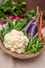 Winter bounty, fresh vegetables (color and spices) Tags: vegetable eggplants greenpea radish cauliflower
