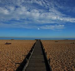 Lydd on Sea (richwat2011) Tags: septoctnov16 kent sea seaside englishchannel coast coastline shore shoreline lade lyddonsea southcoast romneymarsh beach shingle nikon d200 18200mmvr boardwalk clouds shepway