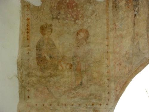 Mecseknádasd, Szent István-templom freskója