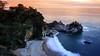 McWay Falls at Sunset (Bartfett) Tags: big sur waterfall falls california ocean sea forest trees beach water sunset twilight dusk beautiful sand long exposure coast coastal mcway
