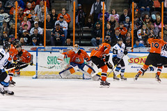"Missouri Mavericks vs. Wichita Thunder, February 4, 2017, Silverstein Eye Centers Arena, Independence, Missouri.  Photo: John Howe / Howe Creative Photography • <a style=""font-size:0.8em;"" href=""http://www.flickr.com/photos/134016632@N02/31909992324/"" target=""_blank"">View on Flickr</a>"