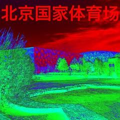 北京国家体育场 (nefasth) Tags: 北京国家体育场 中國 stadenationaldepékin niddoiseau 鸟巢 beijingnationalstadium pékin beijing china architecture pixlr 北京