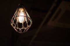 Light (NESNathan) Tags: light bulb macro ambience romantic manchester restaurant filament