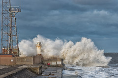 Storm on the Gare 4 (paul downing) Tags: pauldowning pd1001 pauldowningphotography nikon d7200 southgare redcar northyorkshire northsea storm waves