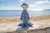 Oleg the Octopus (somethingbyvera) Tags: somethingbyvera lalylala stuffed toys crochet hook yarn beach outdoors blue oahu homemade diy amigurumi