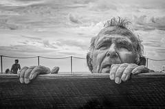Man Over Board (rosiebondi) Tags: street streetphotography ocean water pool australia blackandwhite leica