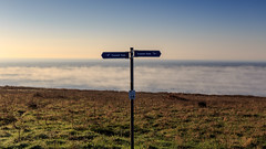 Freezing Fog on a Sunny Winters Day - IMG_6226 (s0ulsurfing) Tags: s0ulsurfing 2016 december isle wight winter freezing fog freshwater bay weather weird sign coastal path
