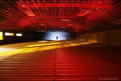 Intelligent Design (EXPLORED, Thanks Very Much!) (john&mairi) Tags: disused cinema glasgow night lightpainting silhouette me figure rafters