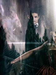 """Madame Vane & Monsieur Gray"" (helmet13) Tags: iphone6s people play actor paris poster promotion advertisingpillar reflection thepictureofdoriangray oscarwilde leportraitdedoriangray city street building heartaward peaceaward 100faves world100f"