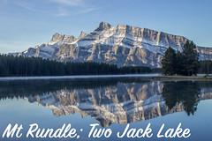 MtRundleTwoJackLake (RosieNiawm) Tags: canada twojacklake lakeminnewanka mountrundle banff