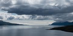 Au delà du fjord... l'océan (Tonton Dave) Tags: sky panorama seascape nature clouds iceland ciel fjord nuages paysage islande eskifjordur