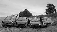 (hartlandmartin) Tags: blackandwhite bw cars mono sony motors warwickshire hurley dumped nicked ndb rx100ii