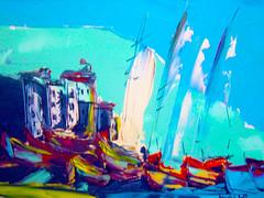 petit port du finistere (aventuriero@ymail.com) Tags: art port peinture exposition finistere aventuriero