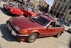 Rover SD1(1982) (Red Cathedral is alive) Tags: anime church car classiccar catholic cosplay rollerderby rover churchtower christian convention oldtimer mechelen mak larp grotemarkt malines sintromboutstoren dreamcar sd1 chathedral romboutstoren eventcoverage historicrally carparazzi aztektv maneblusserclassic