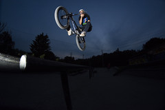 Chris barspin (Braden Bygrave) Tags: sport cool nikon bmx awesome flash superman trick nohands flatland xup dirtjumps tailwhip barspin sportphotography nikonphotography nikonphoto yn460 nikond7100