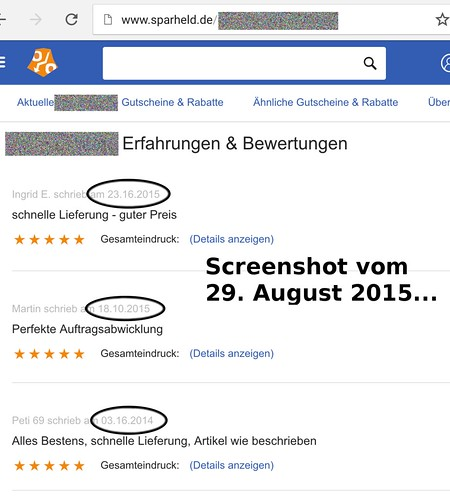 "Na, das sind doch mal Bewertungen, denen man trauen kann! • <a style=""font-size:0.8em;"" href=""http://www.flickr.com/photos/77921292@N07/20966220012/"" target=""_blank"">View on Flickr</a>"