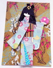ATC1285 - Namika (#352 on EXPLORE, 27 September 2015) (tengds) Tags: pink flowers blue trees brown white atc artisttradingcard asian japanese fan stripes branches card kimono obi artcard papercraft japanesepaper washi ningyo japanesepattern handmadecard chiyogami asiandoll yuzenwashi japanesepaperdoll washidoll origamidoll kimonodoll tengds origamiwashi japanesepatternprint