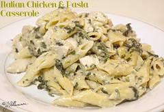 Italian Chicken and Pasta Casserole (Jet Blaque) Tags: food green chicken dinner cuisine nikon flickr tasty casserole pasta gourmet spinach creamy