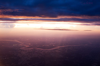 The dusk from above