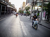 the forerunner. (elbmarcs.) Tags: road street city urban pen thailand lumix asia traffic bangkok olympus 20mm motorcyclist 2015 epl2