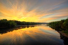 Delaware River Sunrise (ap0013) Tags: sunrise river portland pennsylvania pa penn delaware delawareriver delawarewatergap watergap