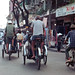 Saigon Oct 1968 - Pedicabs on Le Loi.  Actually these are properly called Xich-Lo Dap or  Pedaled Cyclo
