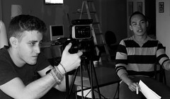 Director and DOP (bboneyardd) Tags: blackandwhite art film monochrome comics drawing documentary wrestler director conduit nikond3100