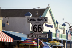 End... (arcotronics) Tags: california santa usa landscape pier los angeles landmark 66 route trail monica end