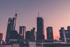 Frankfurt SKYLINE (Niklas W.) Tags: city sunset building skyline architecture skyscraper canon germany deutschland photography big downtown hessen frankfurt bank german architektur mainhatten commerzbank sparkasse 1k wolkenkratzer ffm helaba apsc