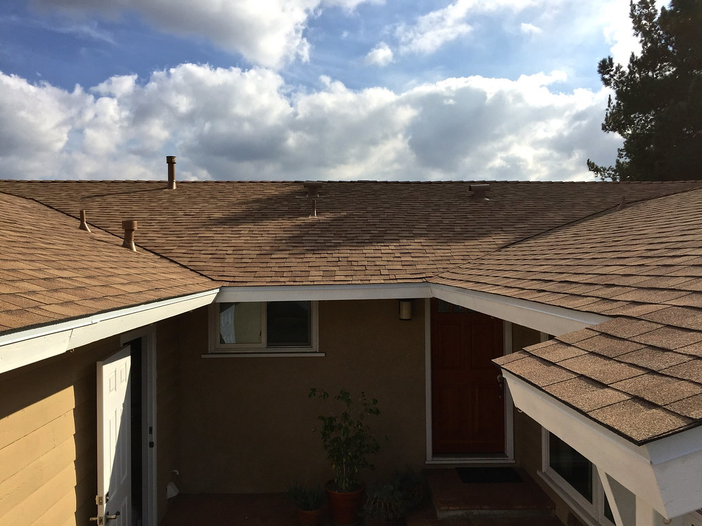 New Roof (tmvissers) Tags: Roof Sky Clouds Sandiego Shingles Udl Titanium  Synthetic Roofing