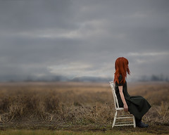 Waiting for Godot (Patty Maher) Tags: field fog chair waiting absurd waitingforgodot fineartphotography conceptualphotography