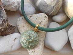 (katerina66) Tags: texture necklace handmade jewellery polymerclay bunacord κολιέ κοσμήματα χειροποίητο πολυμερικόσάργιλοσ