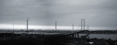 Another grey day (beqi) Tags: road bridge panorama forth ironwork southqueensferry forthroadbridge a90 photoshoppery 2015