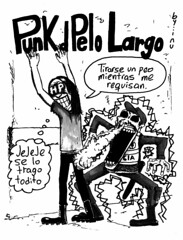 Punk de pelo largo - Peo (inu-waters) Tags: punk comic inuwaters fart peo police fuckthepolice fun lmo diy bogota colombia