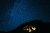 Caucasus night sky (Alex Karamanov) Tags: mountains landscape light mood atmosphere outdoor color travel nature surreal contrast trip hill mountainside ridge edge dawn melancholy tranquility sky clouds mountain town city night nightscape lights nightsky stars cold milky way peaks abandoned caucasus calmness house
