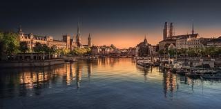 Zurich pink to blue