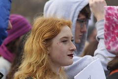 Red head (Read2me) Tags: womensmarch boston cye candid woman redhead orange pregamewinner superherowinner profile thechallengefactory tcfunanimousfebruary ge