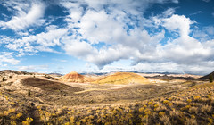 IMGP5973-Pano-1 with small rainbow :) (Mike Hiran Photography) Tags: paintedhills nationalmonument oregon