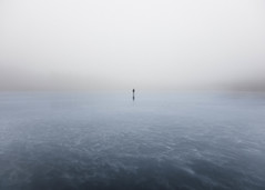 (Svein Nordrum) Tags: grain grainy skating lake iceskating minimalism blue tourskating mist misty fog landscape mood perspective nature ice frozen winter light december silhouette