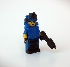 Operator (Synthetic bug) Tags: lego blue brick arms brickarms brickforge tactical