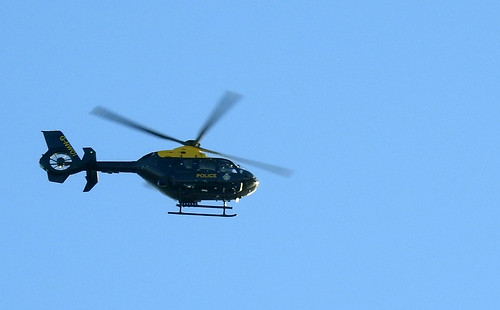 Police Helicopter, Mountain Road, Upper Cwmbran 28 December 2016