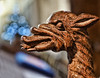 Dragon in St Mary's Priory Abergavenny 3/365 (radleyfreak) Tags: bokeh dragon carving church wood abergavenny wales monmouthshire stmaryspriory carved celtic wyvern grain eye ear