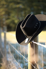 The Life Left Behind (natasha.flanery) Tags: hat cowboyhat black western army calvary memory wood shallowdepthoffield primelens military blurredbackground wideaperture dogtags sad loss concentration patriatisim patriotic outside fence ruleofthirds emphasis value color emphasisusingvalue proportion proportionofscaleusingline emphasisusingtexture asymmetricalbalanceusingspace space texture country cowboy cowgirl