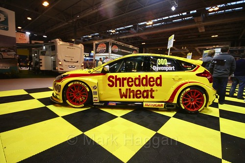 Luke Davenport's 2017 BTCC car at the Autosport International Show 2017