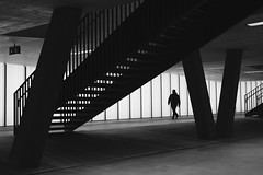 Örlikon (akarakoc) Tags: blackandwhite zürich örlikon bahnhof trainstation light pedestrian stair track