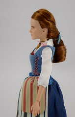 Film Collection Belle and Gaston Doll Set - Live Action Beauty and the Beast - Disney Store Purchase - Deboxing - Belle Deboxed - Free Standing - Midrange Right Side View (drj1828) Tags: us disneystore beautyandthebeast liveactionfilm 2017 belle disneyfilmcollection 12inch posable dollset blue peasant dress deboxed freestanding