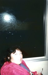 img430 my Mom - BART Train (blurry) (kalihikahuna74 (OkinawaKhan808)) Tags: cali california thebay bayarea vacation trip august 1997 1990s 90s analog predigital camera scanned scan old oldschool school pointandshootcamera pointandshoot us america unitedstates unitedstatesofamerica sanfrancisco san francisco stateside