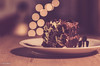 Just Finished Dinner and Now ..... (BGDL) Tags: lightroomcc nikond7000 bgdl niftyfifty odc afsnikkor50mm118g kitchen chocolatecake plateanddessertfork bokeh kitchentable thenow