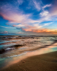 From Orange to Pink (Adam Kyle Jackson) Tags: surfside shoreline shore coastline coast ocean gulfofmexico gulf gulfcoast houston texas beaches clouds sunset sunsets dusk evening