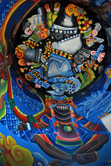 Dios sin angular (Luna's foto) Tags: mural graffiti pinta dios dioses méxico